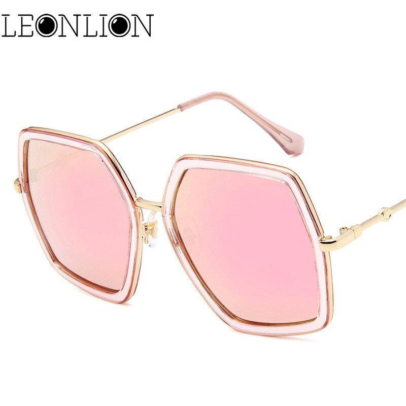 6e215485af LeonLion Luxury Polygonal Large Frame Sunglasses Women Men Designer Travel  Sun Glasses For Women Classic Retro Outdoor Glasses-in Sunglasses from  Apparel ...