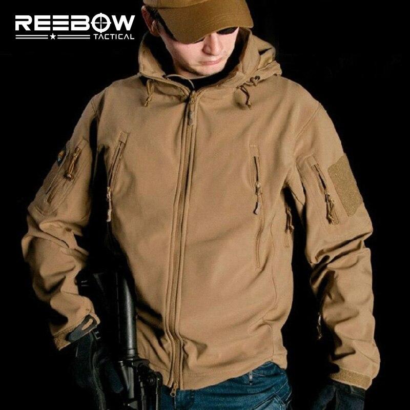 V4.0 Водонепроницаемый мягкие В виде ракушки тактическая куртка Открытый Охота Спорт АРМИЯ SWAT Военная Униформа Training ветрозащитная Верхняя одежда Пальто Костюмы