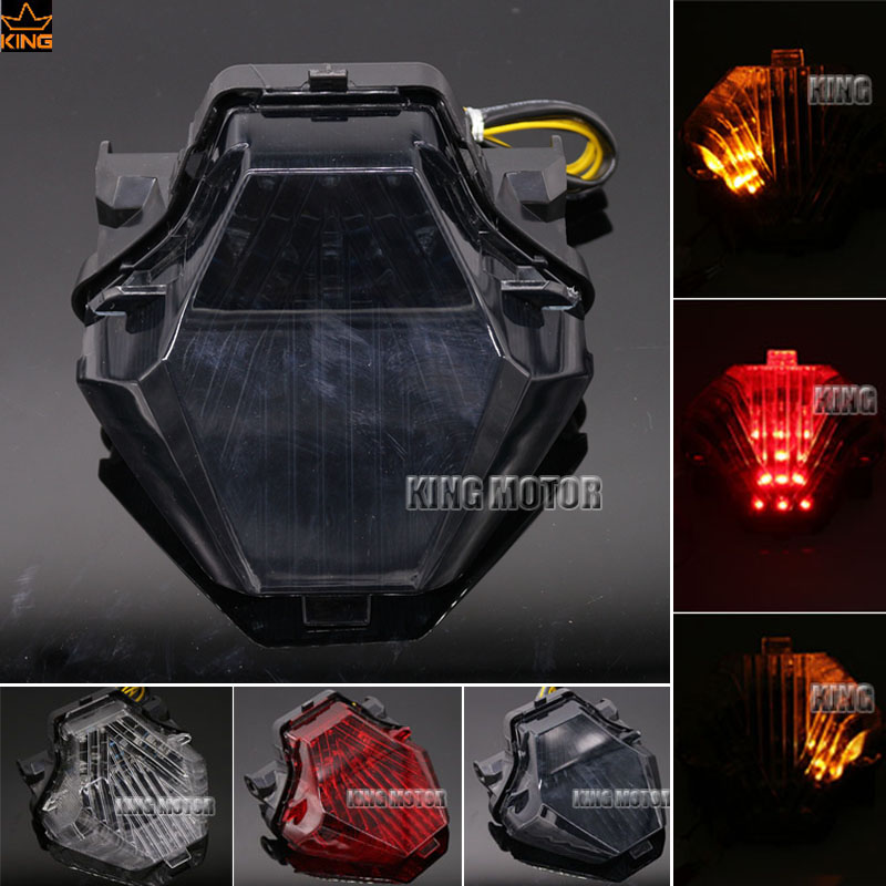 For YAMAHA MT-07 FZ-07 MT 07 FZ 07 2014-2016 Motorcycle Accessories Integrated LED Tail Light Turn signal Blinker Lamp Smoke for yamaha fz 09 mt 09 fj 09 mt09 tracer 2014 2016 motorcycle integrated led tail light brake turn signal blinker lamp smoke