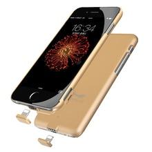 Ультра тонкий Мобильные аккумуляторы крышка Мощность чехол для iPhone 7 Перезаряжаемые Резервное копирование Внешняя Батарея Зарядное устройство чехол для iPhone 6 S 7 7 Plus