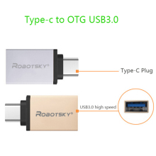 Metal Type C Adapter Male to USB 3.0 Female Converter Type-c to OTG USB3.0 data cable for Google Macbook Chromebook Oneplus