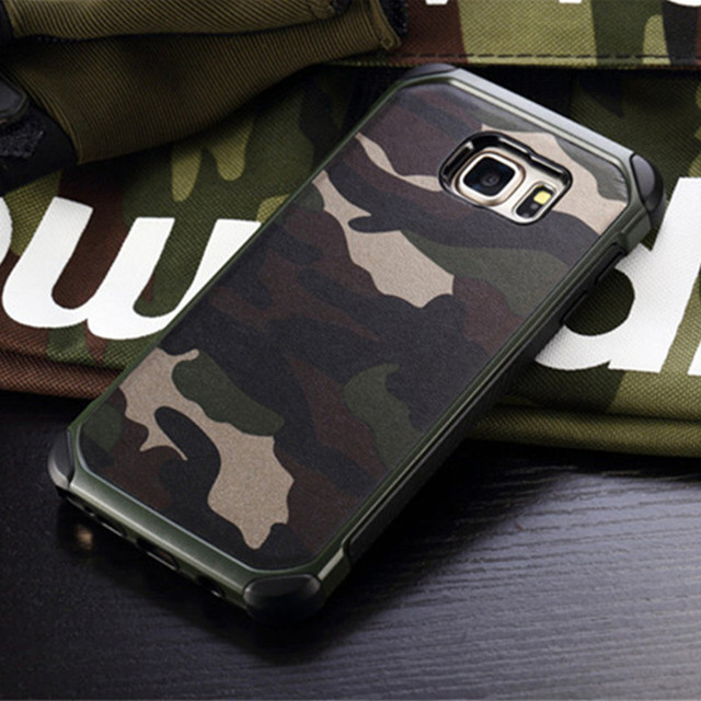 buy popular fb5e6 a8111 US $4.99 |2 in 1 Army Camo Camouflage Case For Samsung Galaxy S8 Plus S7 S6  Edge Hard PC+TPU Armor Shockproof Cover For Galaxy Note 5 case-in Fitted ...