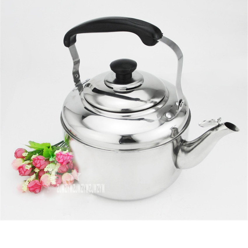 New Arrival Home High Quality 201 Stainless Steel Thickened <font><b>Kettle</b></font> Gas Capacity Whistle Gas Induction Cooker Gas <font><b>Kettle</b></font> <font><b>4L</b></font> Hot image