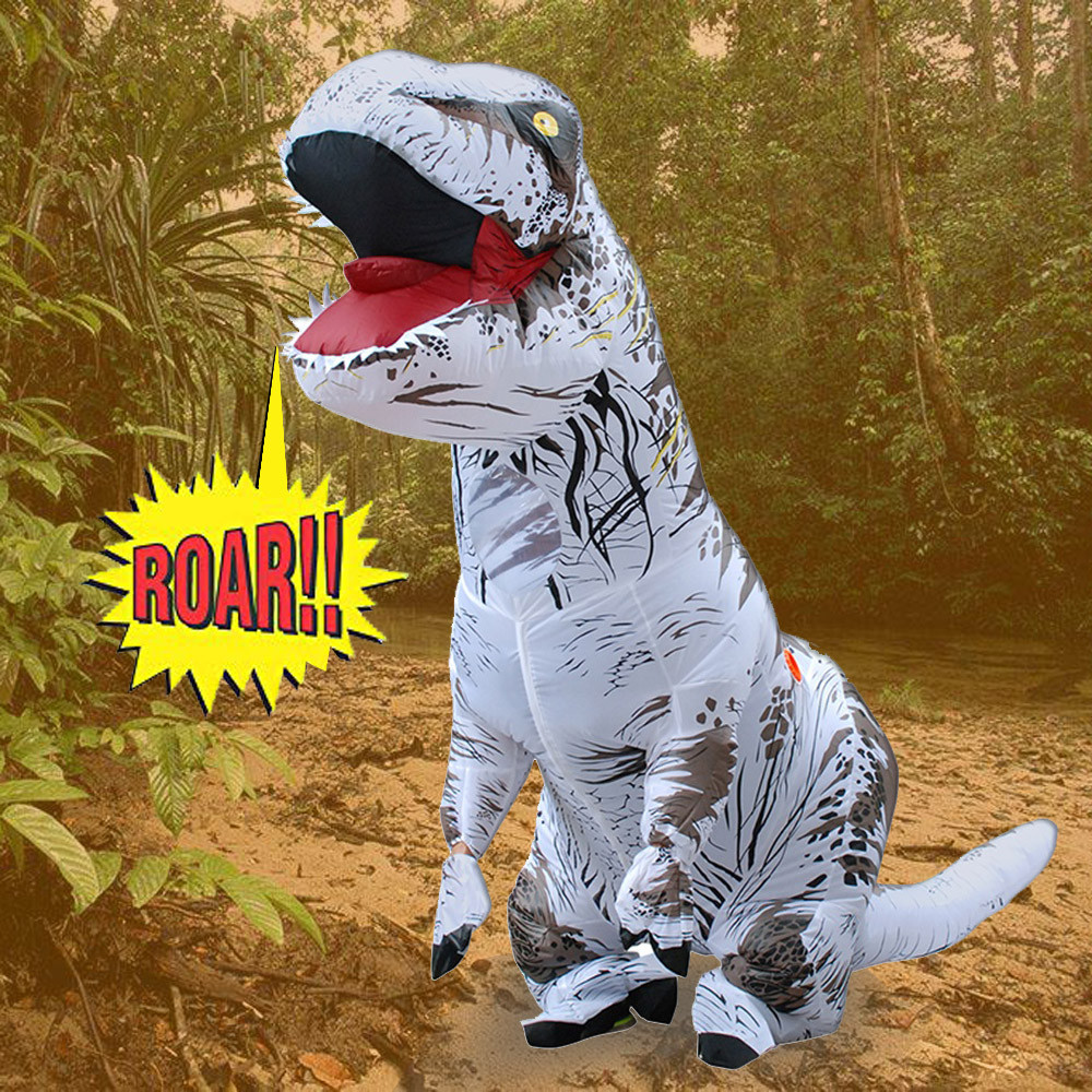 цена на Adult Inflatable T-Rex Trex Dinosaur Blow Up Fancy Costume Suit Party Toys Outdoor Playing Educational Kids Inflatable Toys