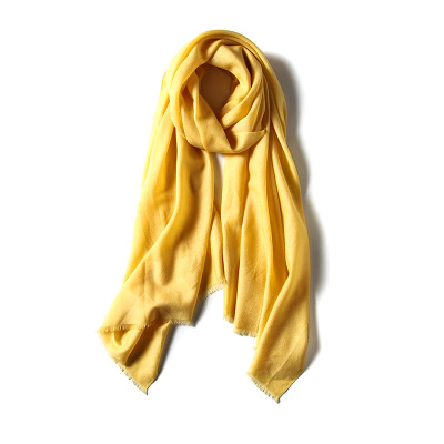 Y005 The wool pure color scarf is a plain, plain colored shawl