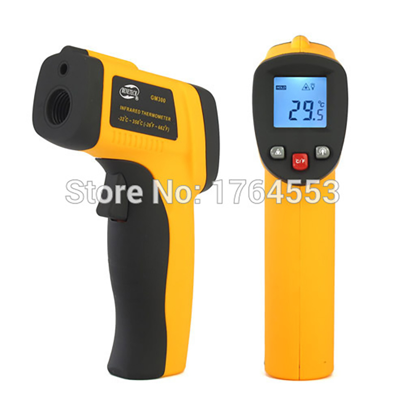 IR Laser Digital Non-Contact LCD Nice Infrared Digital Temperature Electronic Thermometer Gun GM-300 Yellow  цены