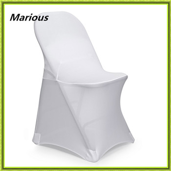 Marious 100pcs folding chair cover spandex chair cover wedding chair cover for wedding white decoration free shipping