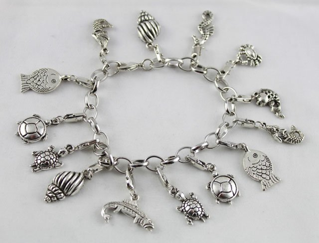 15pcs Tibetan Silver Color Sea Animal Charm Bracelets 20019 In From Jewelry Accessories On Aliexpress Alibaba Group
