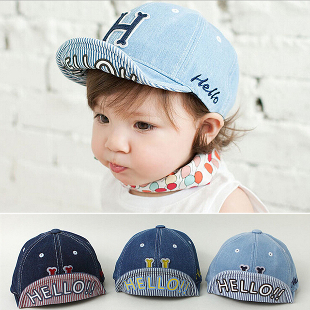 Letter Boys Girls Hats Baseball Caps Cotton Bonnet Infant Cowboy Hat Cute  Newborn Beanies Toddler Cap 1a1f4081d51