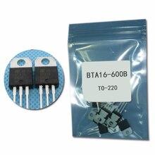 Thyristor 16-Amp 600 50pcs/Lot Triacs IC TO-220 BTA16-600B Volt Electronic New Original