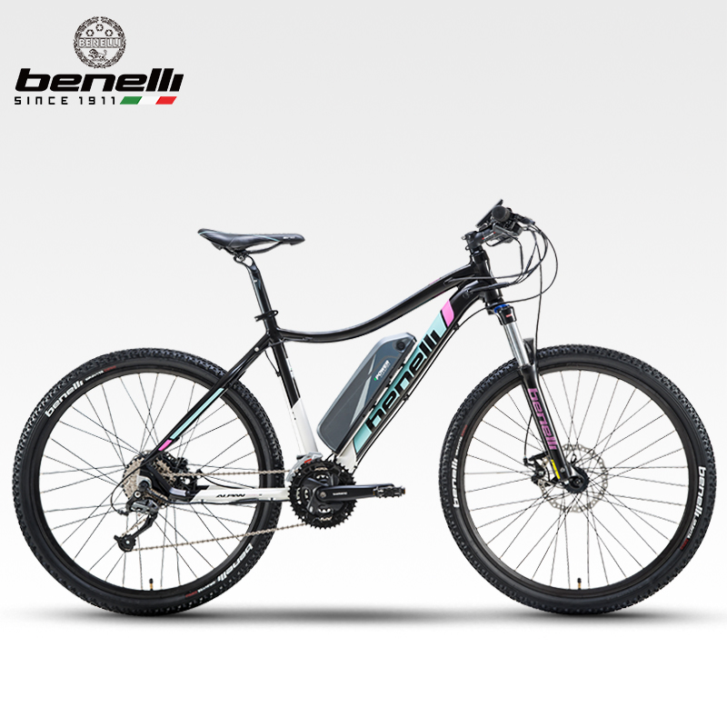 Top Brand 27.5 Inch Big Wheel 27 Speed Powerful Lithium Battery Mountain Bike, Hydraulic Shock Absorb Fork, Electronic Braking