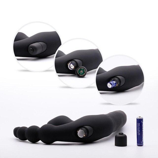Double Penetration Strapon Dildo vibrator Sex Toys For Adults Couples Silicone Butt Plug Vibrators for Women Sex Products Shop 3