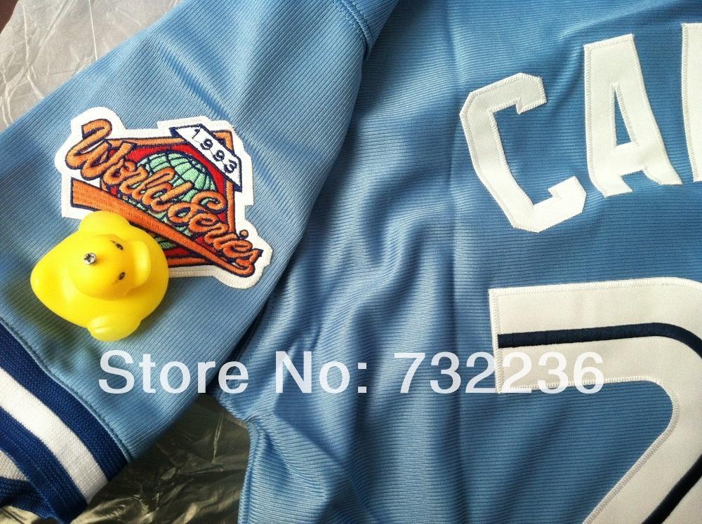 d0727016f Buy Discount  stitched Toronto Blue Jays  29 Joe Carter blue throwback  retro Baseball Jerseys men s baseball jersey  shirt-in Baseball Jerseys  from Sports ...
