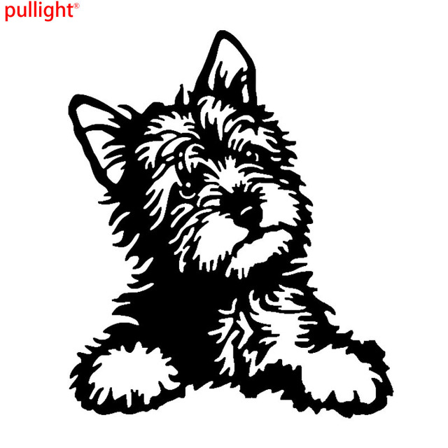 Yorkie dog vinyl decal cute waterproof car stickers motorcycle suvs bumper car styling decoration accessories
