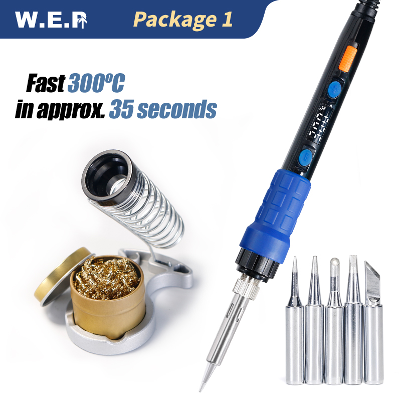 WEP 928D 110W LED Digital  Adjustable Temperature Control Electric Soldering Iron Min Welding Handle Tool E110W E90W E65W