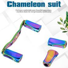 DEUKIO 90mm Refit Colorful Reel Handle For Baitcast Round Dress Up Parts