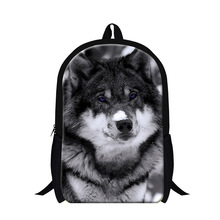 การพิมพ์เด็ก หมาป่า mens bookbags,