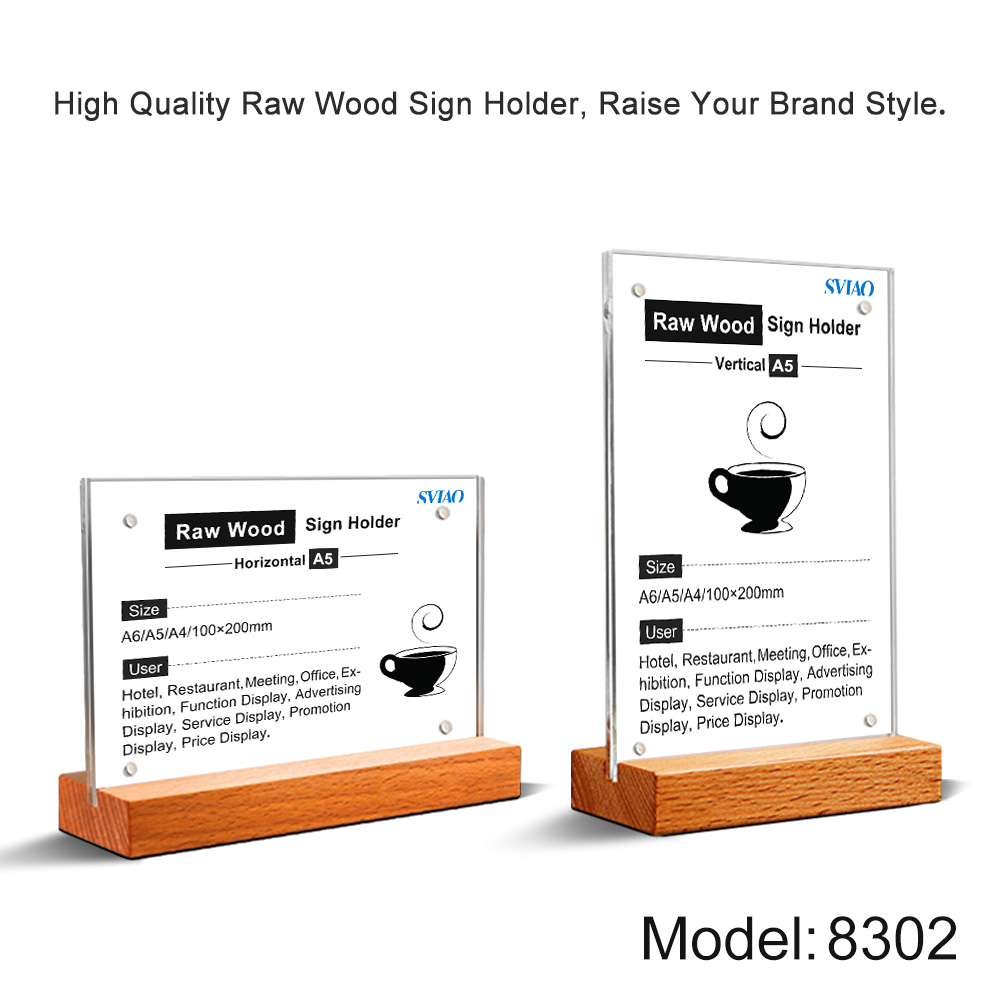 a5 acrylic menu display stand sign holder table price poster stand price tag holder board for store restaurant hotel