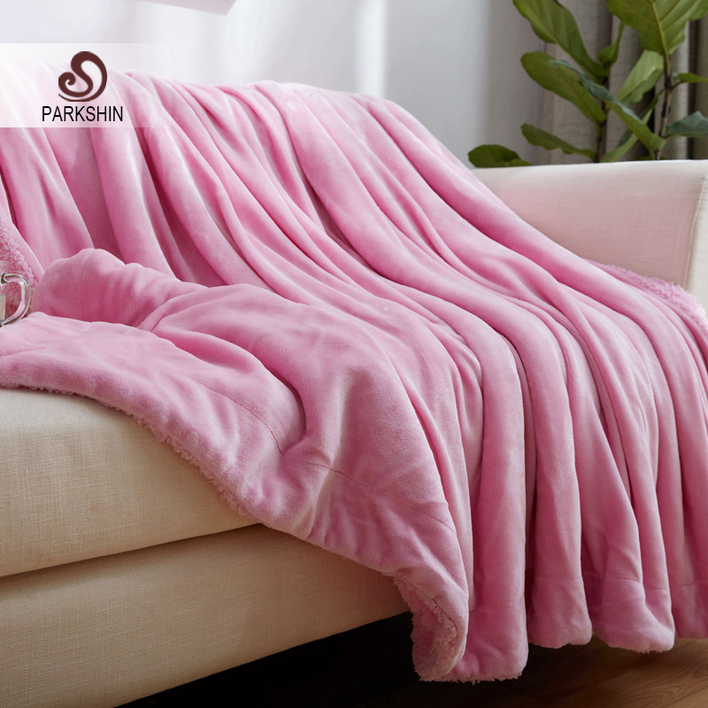 Home Textile Orderly Parkshin Pink Elegant Blanket Comfortable Throws Coral Fleece Soft Bedspread For Sofa/bed/home Cover 1pcs Blanket 3 Size Sale Overall Discount 50-70%
