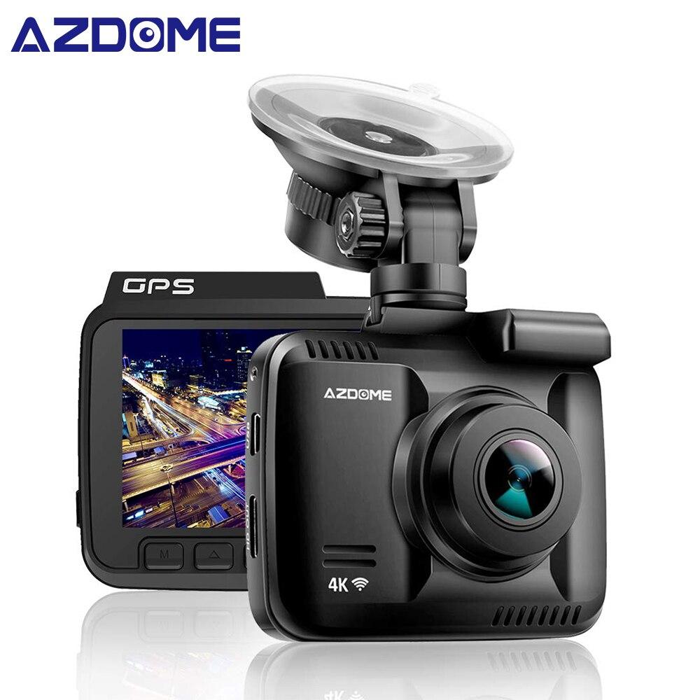 GS63H coche Dash Cam 4 K 2160 P Cámara guión cámara con WiFi GPS G-Sensor de grabación en bucle de estacionamiento supervisión de la cámara del coche DVR Azdome