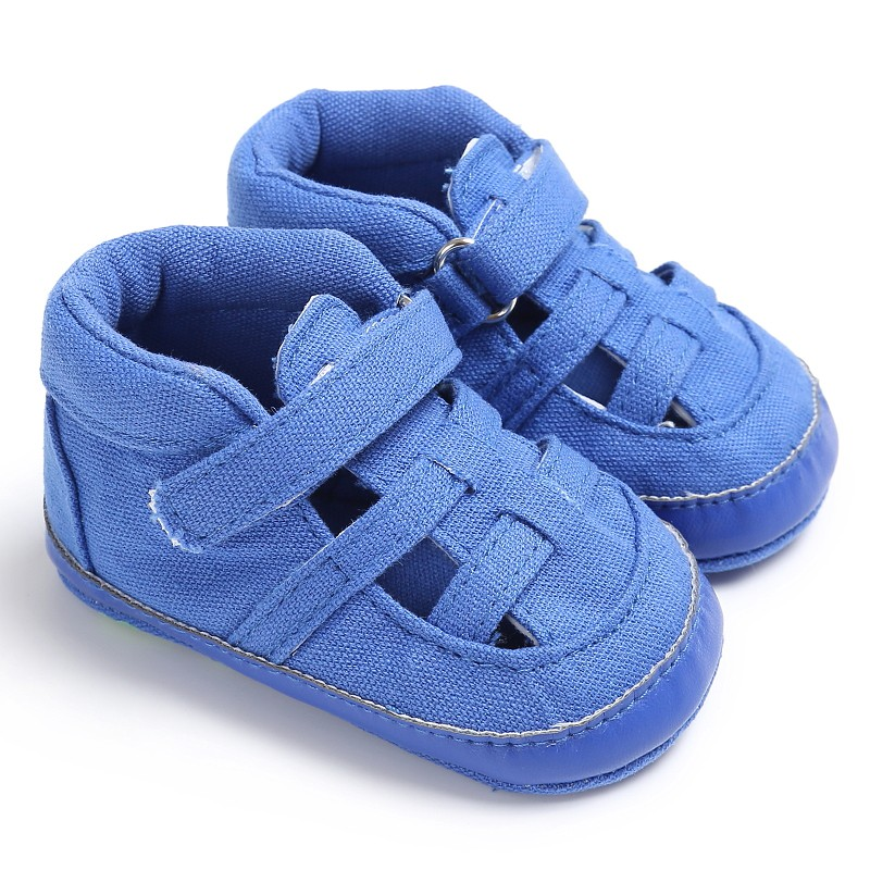 Newborn Summer Canvas Soft Bottom Anti-Slip Shoes Baby Boys Shoes Kids First Walkers