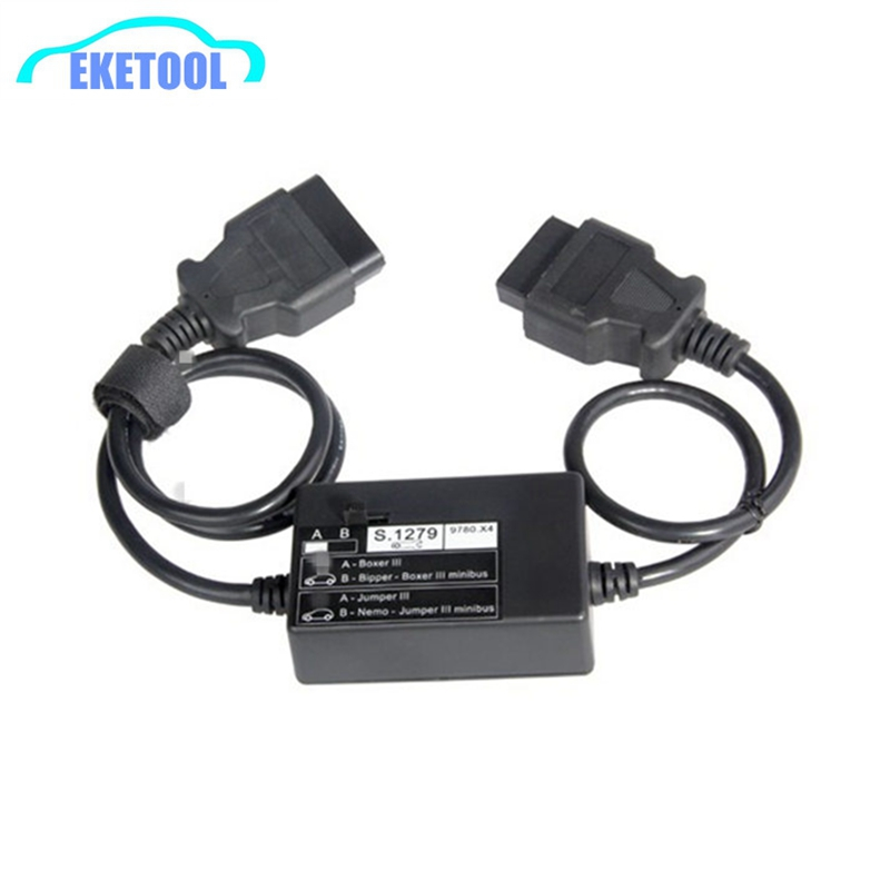 New Module S.1279 Lexia PP2000 Diagnostic Connector S1279 For New Cars Boxer Jumper III Lexia3 For Peugeot For Citroen-in Car Diagnostic Cables & Connectors from Automobiles & Motorcycles
