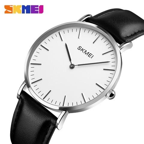 New SKMEI Fashion Watches Women Couple Watches Ultra thin Quartz Watch Elegant Dress Ladies Watch Women Wristwatch Montre Femme Multan