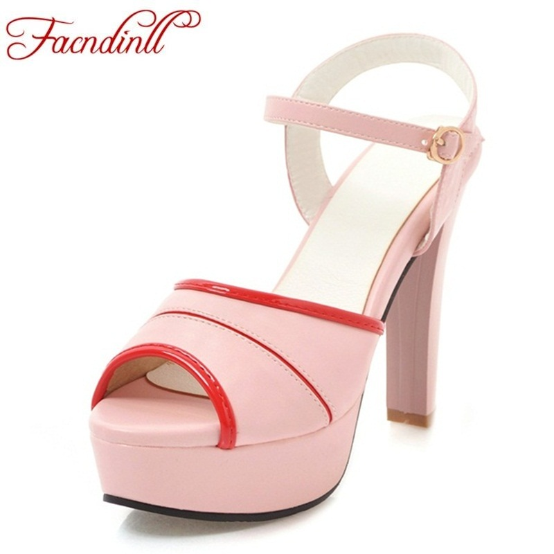 FACNDINLL high heels women sandals 2018 fashion summer shoes woman sexy high heels open toe platform woman sandal party shoes summer rhinestone thick heels women sandals shoes sexy open toe wedge shoes woman high heels sandals platform