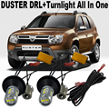 New Design Error Free For Renault Duster Front Turnlight Duster Daytime Running Lights DRL&Front Turn Signal All In One