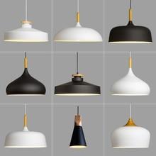 ФОТО Nordic pendant light lamp aluminum hanging room lamp for Restaurant Bar Home Decration lamparas AC110V/220V E27