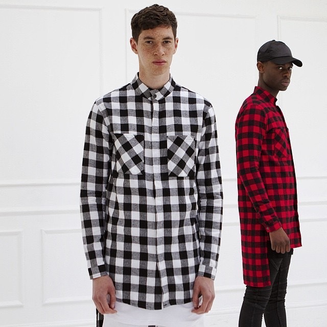 Oversized zipper long sleeve shirt men hip hop swag for How to wear men s flannel shirts