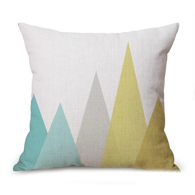 Fashion Nordic Linen Pillowcase Creative Simple Decorative Pillow Unique Light Blue Throw Pillow Covers