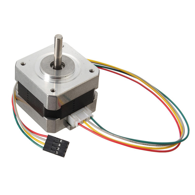 Nema 17 Stepper Motor bipolar 4 leads 34mm 12V 1.5 A 26Ncm(36.8oz.in  Oz Nema Stepper Wiring Diagram on