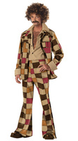 MOONIGHT Men S 60s 70s Disco Jacket Shirt Pant Halloween Fancy Costume Retro Hippie Costume M