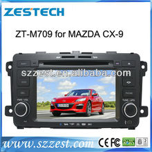 ZESTECH 2 din car dvd player for MAZDA CX9 with gps navigation radio BT DVD mp3 mp4 Ipod bose amplifier..Hot selling!