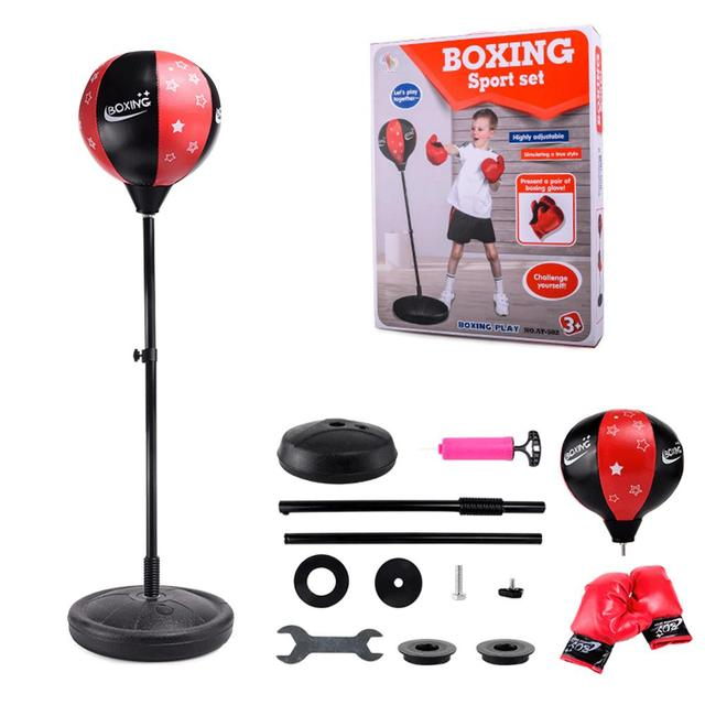 relaxed boxing standing punching bag children fitness punch pear
