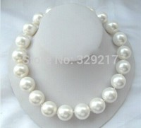 Girlfriend, mother birthday gift 20MM White Shell Pearl Necklace