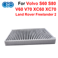Car Carbon Cabin Air Filter For Volvo S60 S80 V60 V70 XC60 XC70 Land Rover Freelander 2  Accessories 6G9N-19N619-BA LR000901