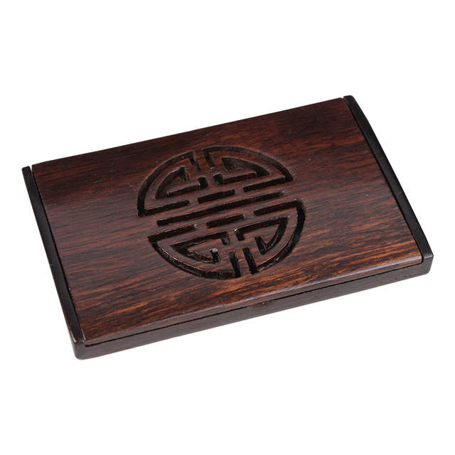 Us 6 99 New Arrivals Wholesale Natural Solid Wood Card Case Business Card Holder Wenge Wood Senior Cardcase Wooden Craft F007306 In Storage Boxes