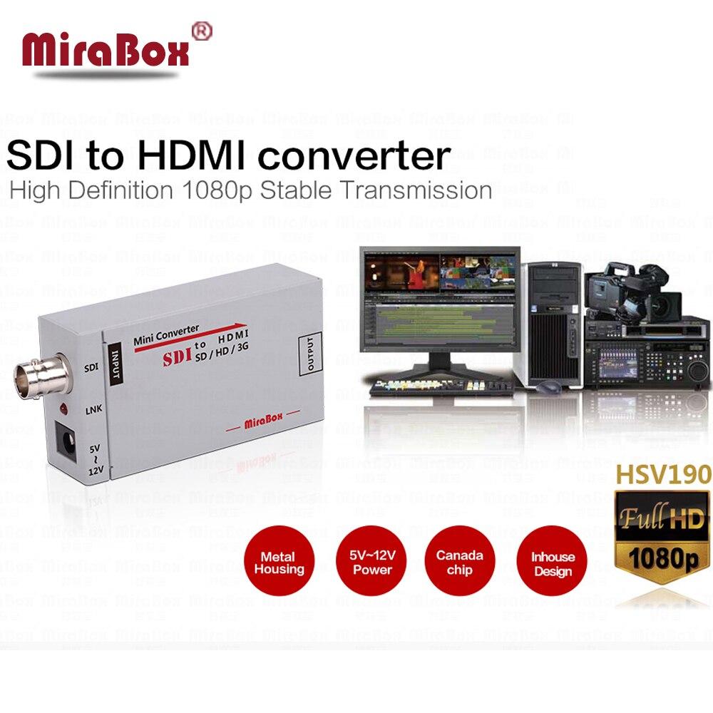 HSV190 Mini 3G SDI vers HDMI Converter Support 1080 P 3G HD SD SDI pour la Conduite des Moniteurs HDMI Avec Adaptateur UE US UK UA Plug