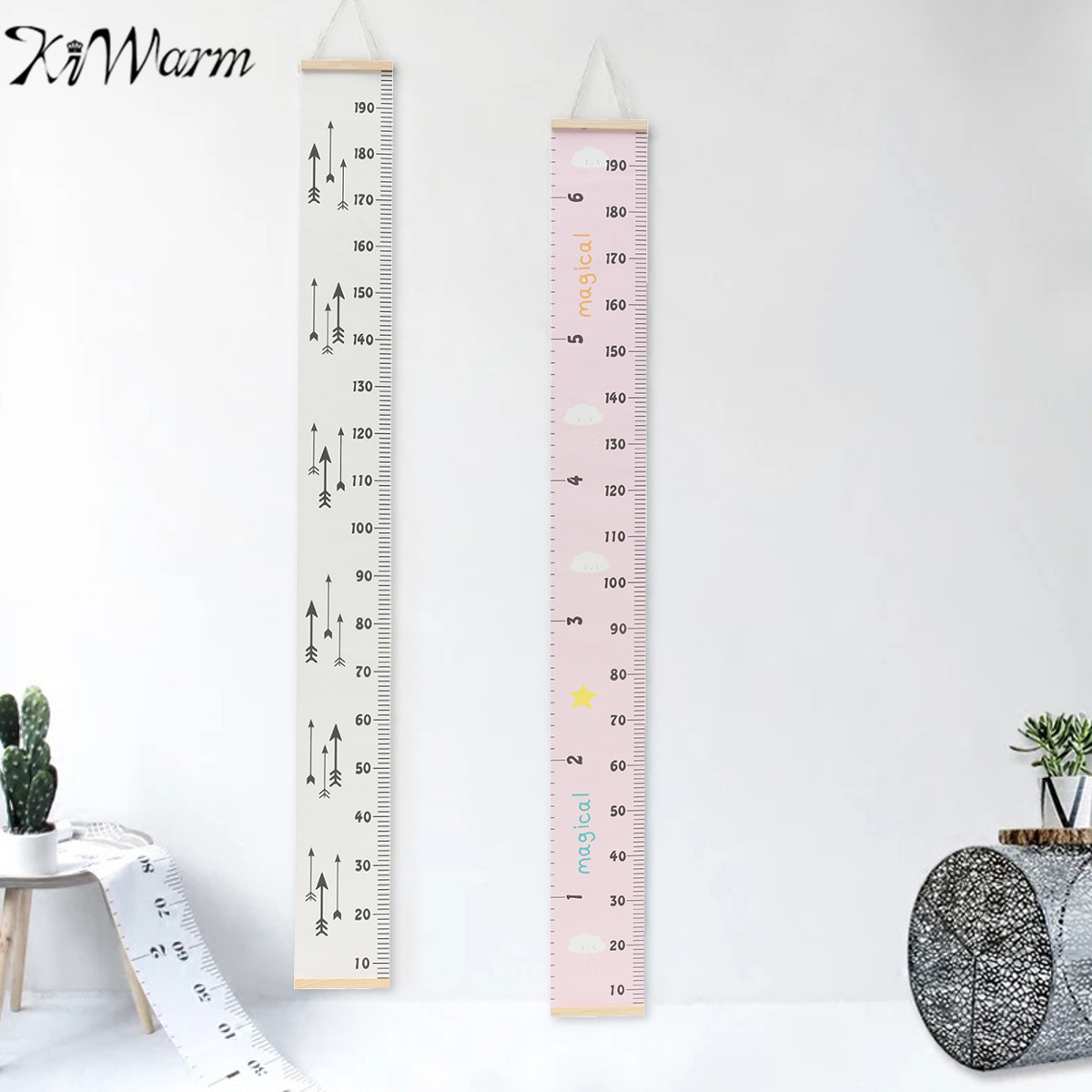 Kiwarm newest wooden wall hanging baby child kids growth chart height measure ruler sticker children also rulers room removable rh aliexpress
