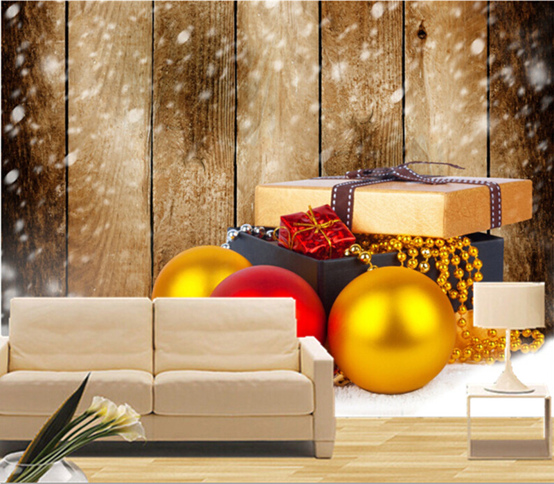Custom 3D murals,Holidays Christmas Balls Gifts Snow Boards papel de parede,hotel living room sofa TV wall bedroom wallpaper custom 3d murals cartoon wolf papel de parede hotel restaurant coffee shop living room sofa tv wall children bedroom wallpaper