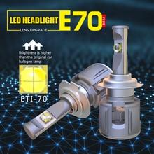 1 комплект H7 120 W 12000LM ETI-70 объектив чипы E70 автомобиля светодио дный лампы передних фар лампы H1 H4 H8 H11 9005/6 HB3/4 9012 D1S/D2S/D3S/D4S 6 K