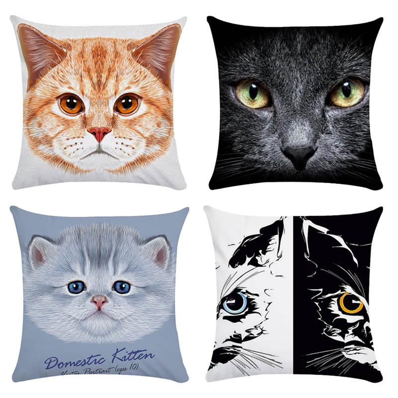 Pillow Gifts For Cats HomerDecor Cushion Cover Throw  Pillowcase Pillow   Covers 45 * 45cm Sofa Seat Cushion Dec