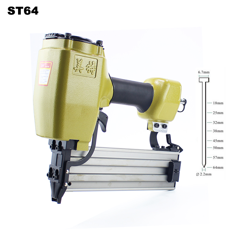 High Quality ST64 T-type Industrial Pneumatic Nail Gun Air Stapler Gun Pneumatic Nailer Gun 18-64mm Suit for Trunking/ConcreteHigh Quality ST64 T-type Industrial Pneumatic Nail Gun Air Stapler Gun Pneumatic Nailer Gun 18-64mm Suit for Trunking/Concrete