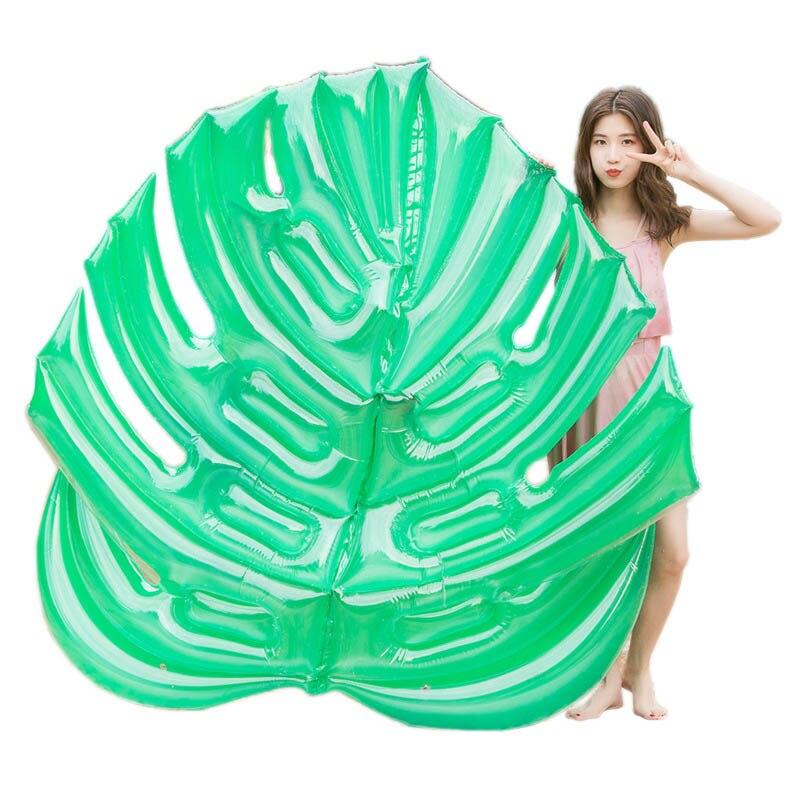 Gonflable feuille verte flottant rangée feuilles piscine flotteur lit gonflable femmes eau chaise longue matelas pneumatique piscine anneau de natation