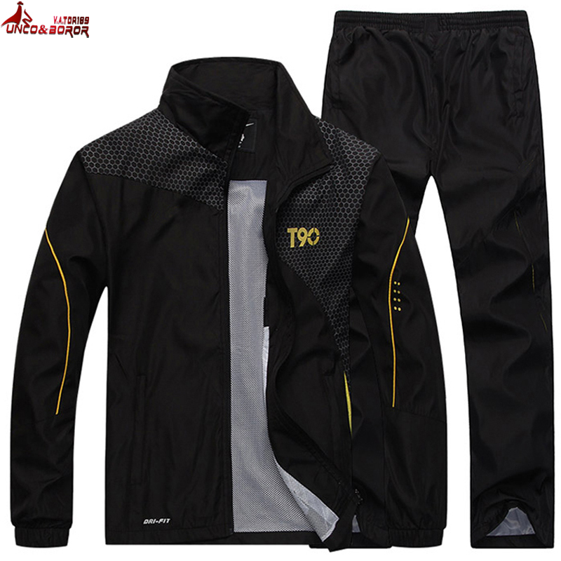 Brand Men`s Tracksuit Two Piece Clothing Suit Sweatshirt +Sweatpants Casual Training Joogers Sport Suit Sportswear Men Set
