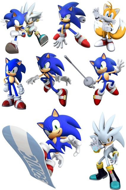 New Sonic Stickers Wall Stickers Suitcase Fridge Laptop Sticker Waterproof  Anime Decal 3 Sheets/ Set Part 35