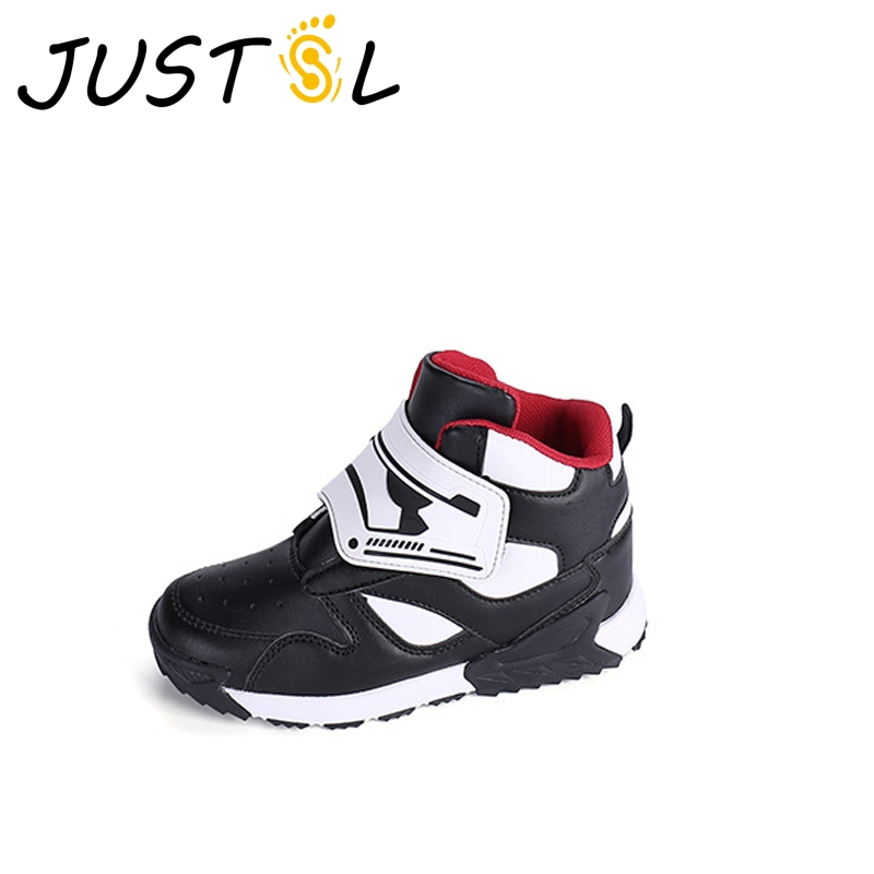 JUSTSL Autumn winter children sports shoes girls boys high quality fashion sneakers teenage non-slip running shoes for kids 2017uovo fall children shoes boys and girls sneakers 3 hooks and kids shoes high quality sports running shoes for kids