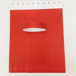 Image 4 - 1000pcs 일회용 다른 색상 사용 가능한 종이 손목 밴드, 이벤트 팔찌, 파티 tyvek 밴드 tyvek 종이 팔찌